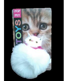 Žaislas katėms pūkuotukas